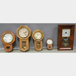 Ogee and Four Other Wall Clocks