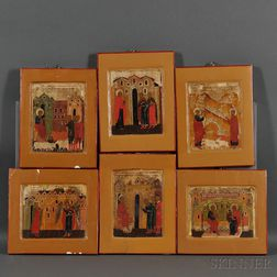 Six Russian Icon Fragments