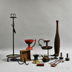 Group of Wooden and Metal Decorative Items