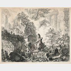 Piranesi, Giovanni Battista (1720-1778) Fantasy of Ruins with a Statue of Minerva