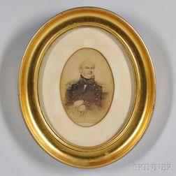 Albumen Photograph of a Print of Commodore Jesse Duncan Elliot (1782-1845)