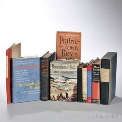 Sandburg, Carl (1878-1967) Ten Volumes, All Signed.