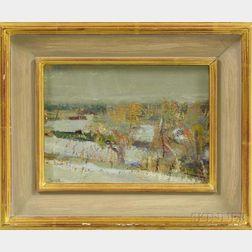 Jonathan Trowell (British, b. 1938)      Winter in Litcham, Norfolk