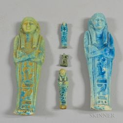 Five Egyptian Faience Items
