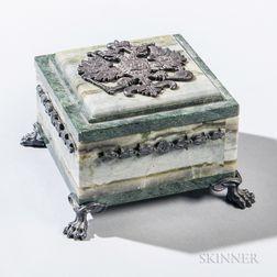 Silver-mounted Hardstone Box