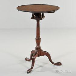Walnut Dish-top Tilt-top Candlestand