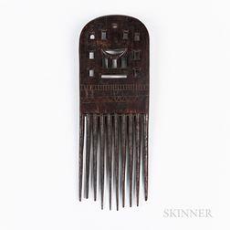 Large Ashanti Wood Comb