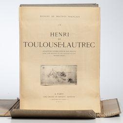 Toulouse-Lautrec, Henri de (1864-1901) Dessins de Maitres Francais IX [...] Soixante-Dix Reproductions de Leon Marotte avec une Notice