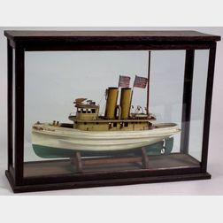 "Cased Model of New York Tugboat ""SLOCUM,"""