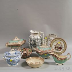 Nine Pieces of English Porcelain