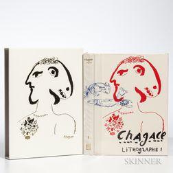 Chagall, Marc (1887-1995) Lithographe I-IV  , Japanese Edition.