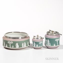 Three Wedgwood Tricolor Jasper Dip Items