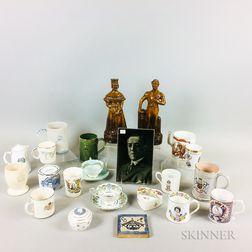 Twenty-four English Commemorative Ceramic Items