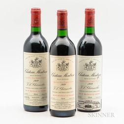 Chateau Montrose 1989, 3 bottles
