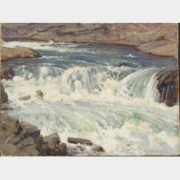 Robert Hogg Nisbet (American, 1879-1961)    The Rushing River