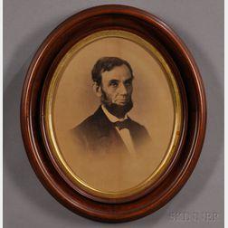Lincoln, Abraham (1809-1865) Photographic Portrait by Alexander Gardner (1821-1882)   Washington, D.C., 9 August 1863.