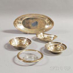 Five Sterling Silver Tableware Items