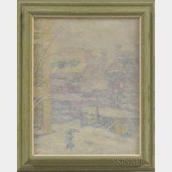 Thomas Willoughby Nason (American, 1889-1971)      Snowstorm on Beacon Hill