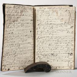 Cabinetmaker's Day Book, 1814-1820 Templeton, Massachusetts.