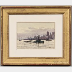 Hely Augustus Morton Smith (British, 1862-1941)      View of Lower Manhattan