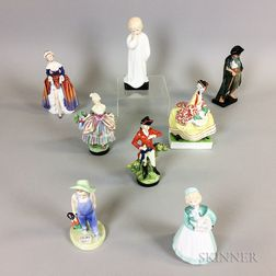 Eight Royal Doulton Ceramic Figures