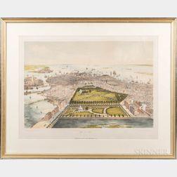 Williams & Stevens, Publishers, New York, After J. Bachmann (1814-1896)       Bird's Eye View of Boston.