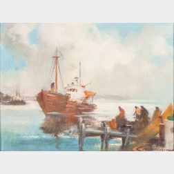 Harry Russell Ballinger (American, 1892-1993)      Making Port
