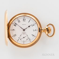 Agassiz Watch Co. 18kt Gold Retailed by Tiffany & Co. Hunter-case Watch