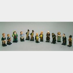 Thirteen Small Royal Doulton Mostly Dickens Characters