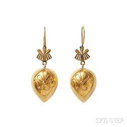 Etruscan Revival Gold Earrings