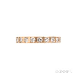 """18kt Gold and Diamond """"Lanieres"""" Ring, Cartier"""
