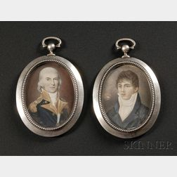 Two Portrait Miniatures of Commodore Alexander Murray and His Son Magnus Murray