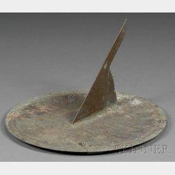 Shaker Commemorative Engraved Copper Sundial