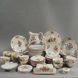French Luneville Partial Porcelain Luncheon Service