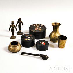 Nine Decorative Asian Items