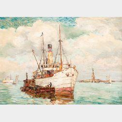 Reynolds Beal (American, 1867-1951)      The Banana Steamer
