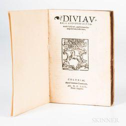 Augustine of Hippo (354-430 AD) Divi Aurelii Augustini Hipponensis Episcopi, Questionum Evangeliorum, Libro Duo.