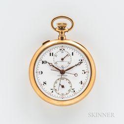 Audemars Piguet & Co. 18kt Gold Chronograph Open-face Watch