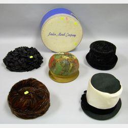 Five Ladies Vintage Boutique Designer Hats