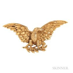 Antique 18kt Gold Eagle Brooch