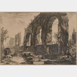 Giovanni Battista Piranesi (Italian, 1720-1778)      Avanzi degl' Aquedotti Neroniani...  (Aqueduct of Nero)