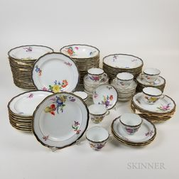 Extensive Group of Meissen Floral-decorated Porcelain Tableware