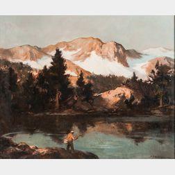 Harry Russell Ballinger (American, 1892-1993)      Mountain Lake.