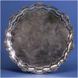 English George III Silver Salver