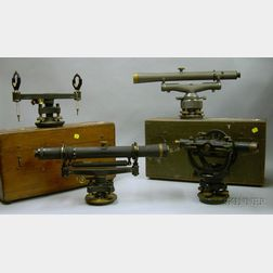 Four Surveyor's Instruments in Cases
