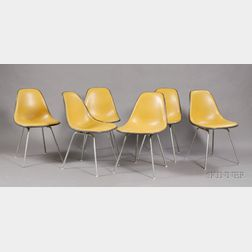 Six Eames Side Chairs
