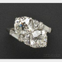 "Platinum and Diamond ""Toi et Moi"" Ring, Raymond Yard"