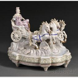 KPM Porcelain Figural Group and Stand