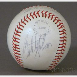 Jim Rice and Butch Hobson Autographed Baseball