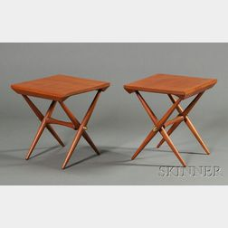 Pair of Jens Quistgaard Side Tables